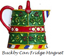 buckby watercan fridge magnet