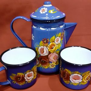 Set Coffee Pot & Matching Mugs
