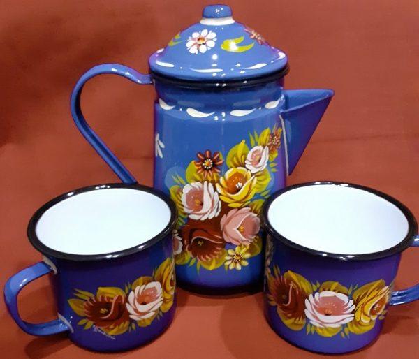 Set Coffee Pot & Matching Mugs