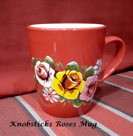 Knobsticks Roses Mug